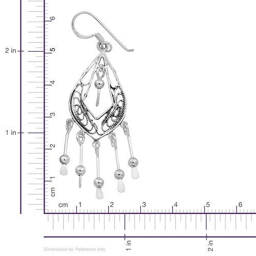 (Option 2) Thai Sterling Silver Hook Earrings, Silver wt 4.31 Gms.
