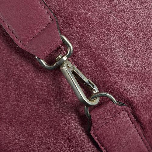 100% Genuine Leather RFID Rose Colour Hobo Bag (Size 38X24X8 Cm)