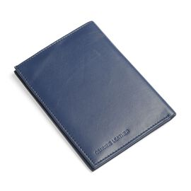 Genuine Leather Blue Colour RFID Blocker Passport Wallet (Size 15x11 Cm)