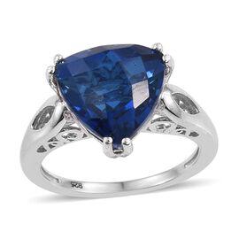 Ceylon Colour Quartz (Trl) Solitaire Ring in Platinum Overlay Sterling Silver 6.500 Ct.