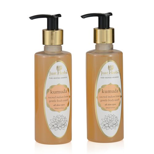 (Option 1) EXCLUSIVE TO TJC  - Just herbs Kumuda- Sacred Lotus Rejuvenating body wash (200ml)
