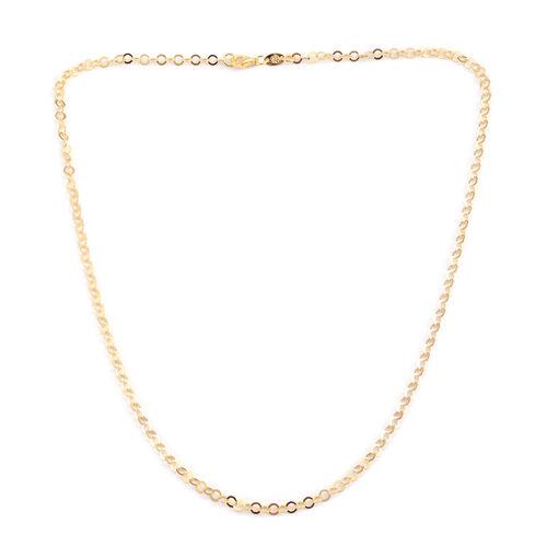 Designer Inspired - JCK 2017 Collection - 14K Gold Overlay Sterling Silver Circle Link Necklace (Size 24), Silver wt 4.50 Gms.