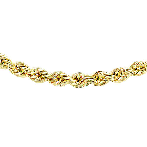 Vicenza Collection 9K Yellow Gold Rope Chain (Size 24), Gold wt. 5.75 Gms.