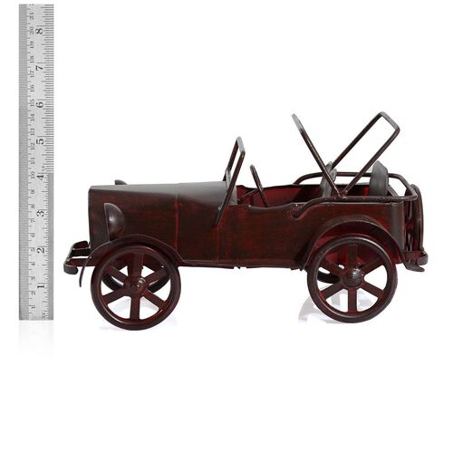 Handcrafted Vintage Style Chocolate Colour Mini Royal Car