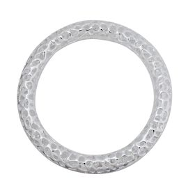 OTO - RACHEL GALLEY Rhodium Plated Sterling Silver Allegro Bangle (Size 8.25 / Large) Wt. 43.20 GMS.
