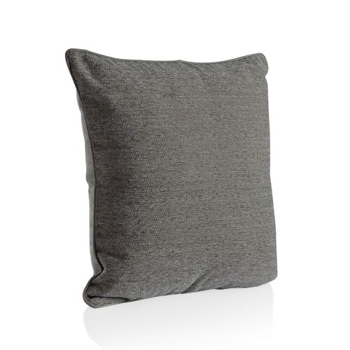 (Option 3) Diamond Pattern Grey Colour Cushion (Size 43x43 Cm)