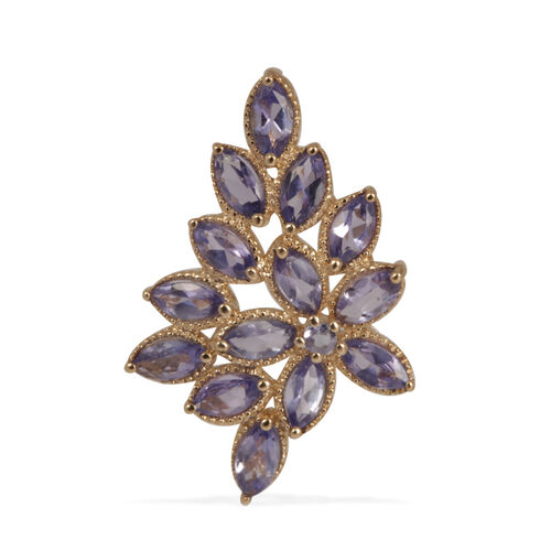 9K Y Gold Tanzanite (Mrq) Pendant 1.800 Ct.