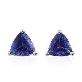 RHAPSODY 950 Platinum AAAA Tanzanite (Trl) Stud Earrings (with Screw Back) 1.750 Ct.