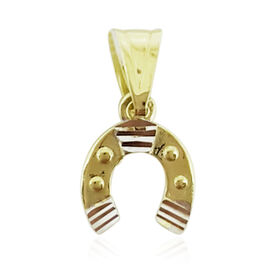 One Time Deal-9K Y Gold Horseshoe Pendant
