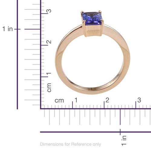 ILIANA 18K Yellow Gold 1.60 Carat AAA Tanzanite Octagon Solitaire Ring.