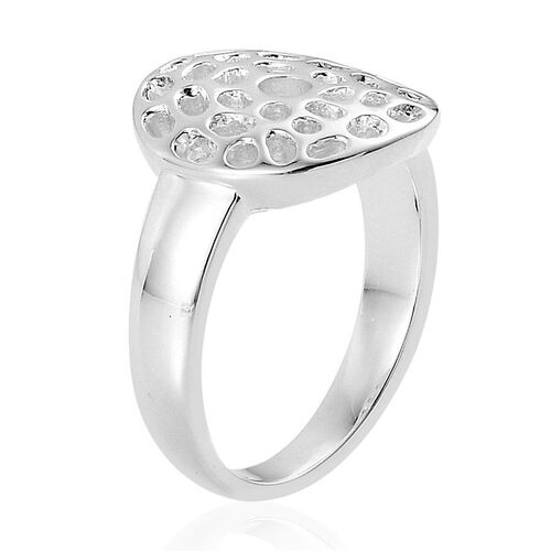 Rachel Galley Enkai Sun Small Disc Sterling Silver Ring [ Silver wt. 5.66 gms]