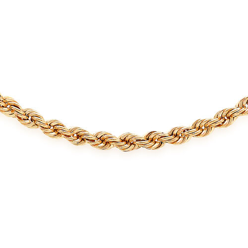 JCK Vegas Collection 9K Rose Gold Rope Chain Necklace (Size 20 Inch), Gold wt 4.80 Gms.