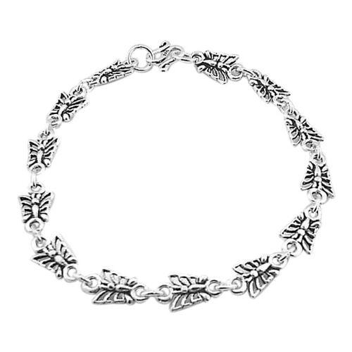 Thai Sterling Silver Butterfly Bracelet (Size 7.5), Silver wt 5.71 Gms.