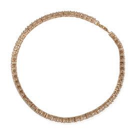 9K Y Gold (Rnd) Bracelet (Size 8) Made with 120 FACETS HERITAGE CUT SWAROVSKI ZIRCONIA 6.160 Ct.