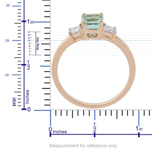 14K Y Gold Boyaca Colombian Emerald (Oct 0.75 Ct), Diamond Ring 1.000 Ct.