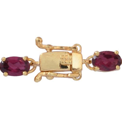 Multi GemStones (Ovl), White Topaz Floral Bracelet (Size 7) in 14K Gold Overlay Sterling Silver 13.000 Ct.