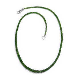 AAA Rare Russian Diopside (Rnd) Necklace (Size 18) in Platinum Overlay Sterling Silver 46.350 Ct.