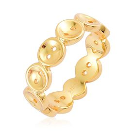 LucyQ Button Ring in Yellow Gold Overlay Sterling Silver 3.56 Gms.