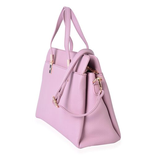 Pink Colour Tote Bag (Size 36x25x13.5 Cm) with Adjustable and Removable Shoulder Strap