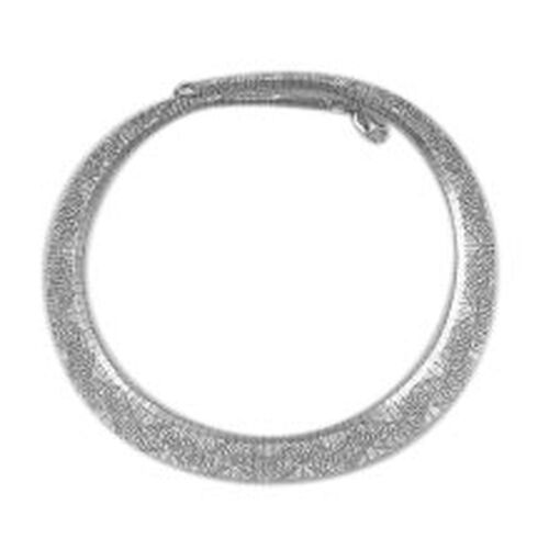 Vicenza Collection Rhodium Plated Sterling Silver Cleopatra Necklace (Size 18), Silver wt 31.33 Gms.