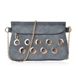 Baylis Oilve Green Shoulder Bag with Golden Chain Strap (Size 23x16x7 Cm)