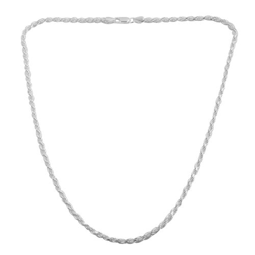 JCK Vegas Collection Sterling Silver Rope Chain (Size 20), Silver wt 18.50 Gms.