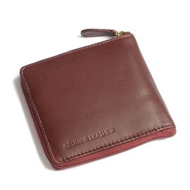 Genuine Leather Burgundy Colour RFID Zip Up Wallet (Size 11x9 Cm)