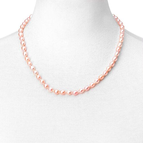 9K Y Gold AAA Fresh Water Peach Pearl Necklace (Size 20)