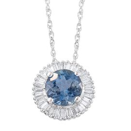 ILIANA 18K W Gold AAA Rare Tanzanite Diamond (SI G-H) Pendant With Chain 1.000 Ct.
