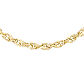 Close Out Deal 9K Y Gold Prince of Wales Chain (Size 20), Gold wt 4.20 Gms.