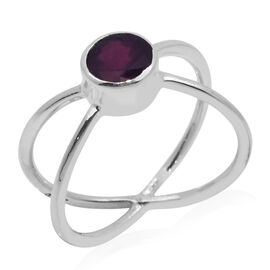 Royal Bali Collection African Ruby (Rnd) Ring in Sterling Silver 1.900 Ct.