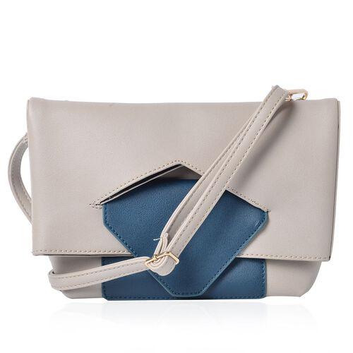 Celia Pale Grey Shoulder Bag  with Adjustable and Removable Shoulder Strap (Size 26x20x17x7 Cm)
