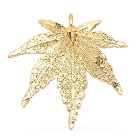 Japanese Maple Pendant (Size 3.5 - 4 Cm) Dipped in 24K Yellow Gold