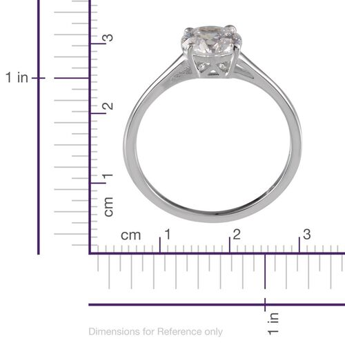 9K White Gold (Rnd) Solitaire Ring Made With SWAROVSKI ZIRCONIA 1.280 Ct.