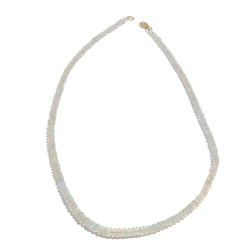 ILIANA 18K Y Gold AAA Ethiopian Welo Opal (Rnd) Necklace (Size 18) 36.000 Ct.
