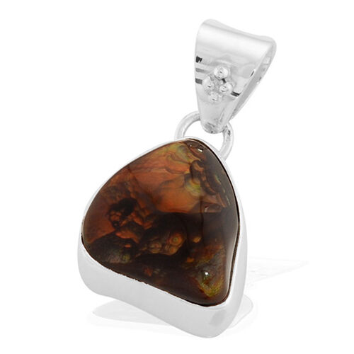 Fire Agate (25.00 Ct) Sterling Silver Pendant  25.000  Ct.