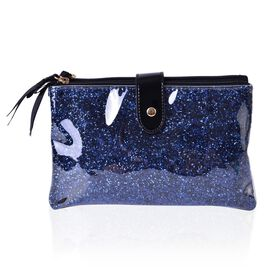 Blue Colour PVC Cosmetic Bag (Size 22x13x8 Cm)