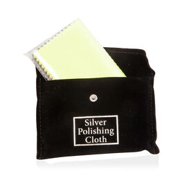 30 Pc Set Multi Color High Quality Cotton Silver Polishing Cloth with Anti-Tarnish Treatment. (Size 10.8x6.8 Cm) - BLACK