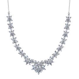 Espirito Santo Aquamarine (Mrq) Necklace (Size 18) in Platinum Overlay Sterling Silver 11.250 Ct.