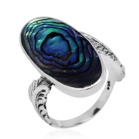 Royal Bali Collection Abalone Shell (Ovl) Ring in Sterling Silver 20.000 Ct.