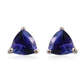 14K Y Gold Tanzanite (Trl) Stud Earrings (with Push Back) 2.000 Ct.