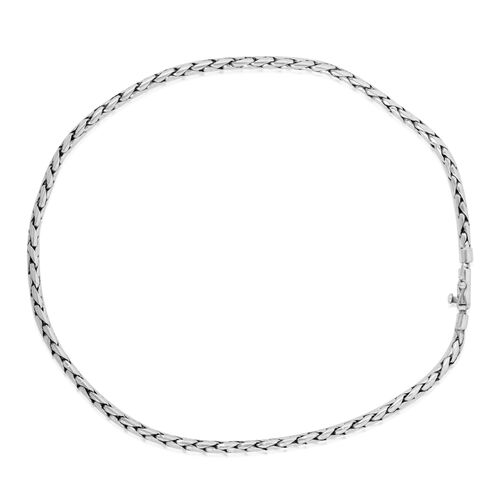 Designer Inspired Sterling Silver Necklace (Size 22), Silver wt 70.79 Gms.