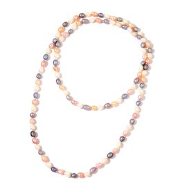 Fresh Water Multi Colour Pearl Necklace (Size 48)