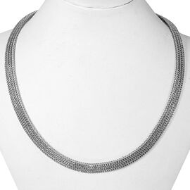 Royal Bali Collection Sterling Silver Tulang Naga Necklace (Size 17), Silver wt 64.94 Gms.
