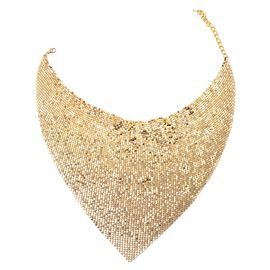 Designer Inspired Chainmail Necklace (Size 21 with 3 inch Extender) in Gold Tone