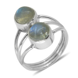 Royal Bali Collection Rainbow Moonstone (Rnd) Ring in Sterling Silver 4.800 Ct.