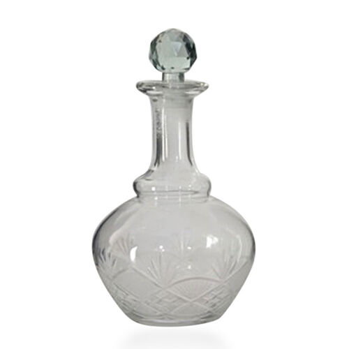(Option 2) Home Decor - Clear Glass Decanter with Stopper
