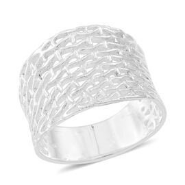 Thai Sterling Silver Weave Net Design Ring, Silver wt 5.50 Gms.