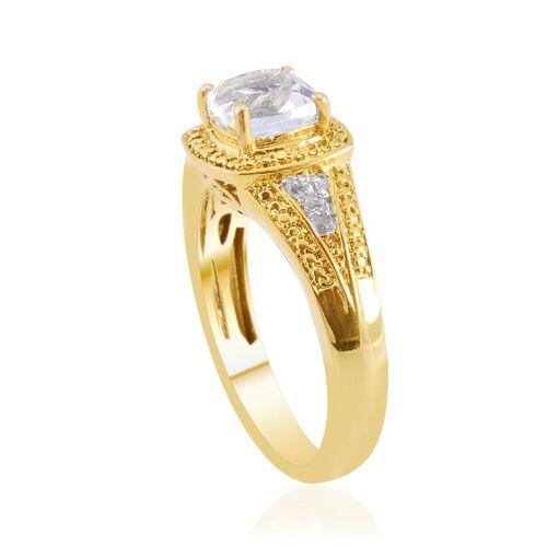 White Topaz (Cush 1.75 Ct) Ring in ION Plated 18K YG Bond 2.000 Ct.