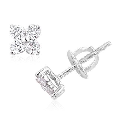 ILIANA 18K White Gold 0.50 Carat IGI Certified Diamond SI G-H Stud Earrings
